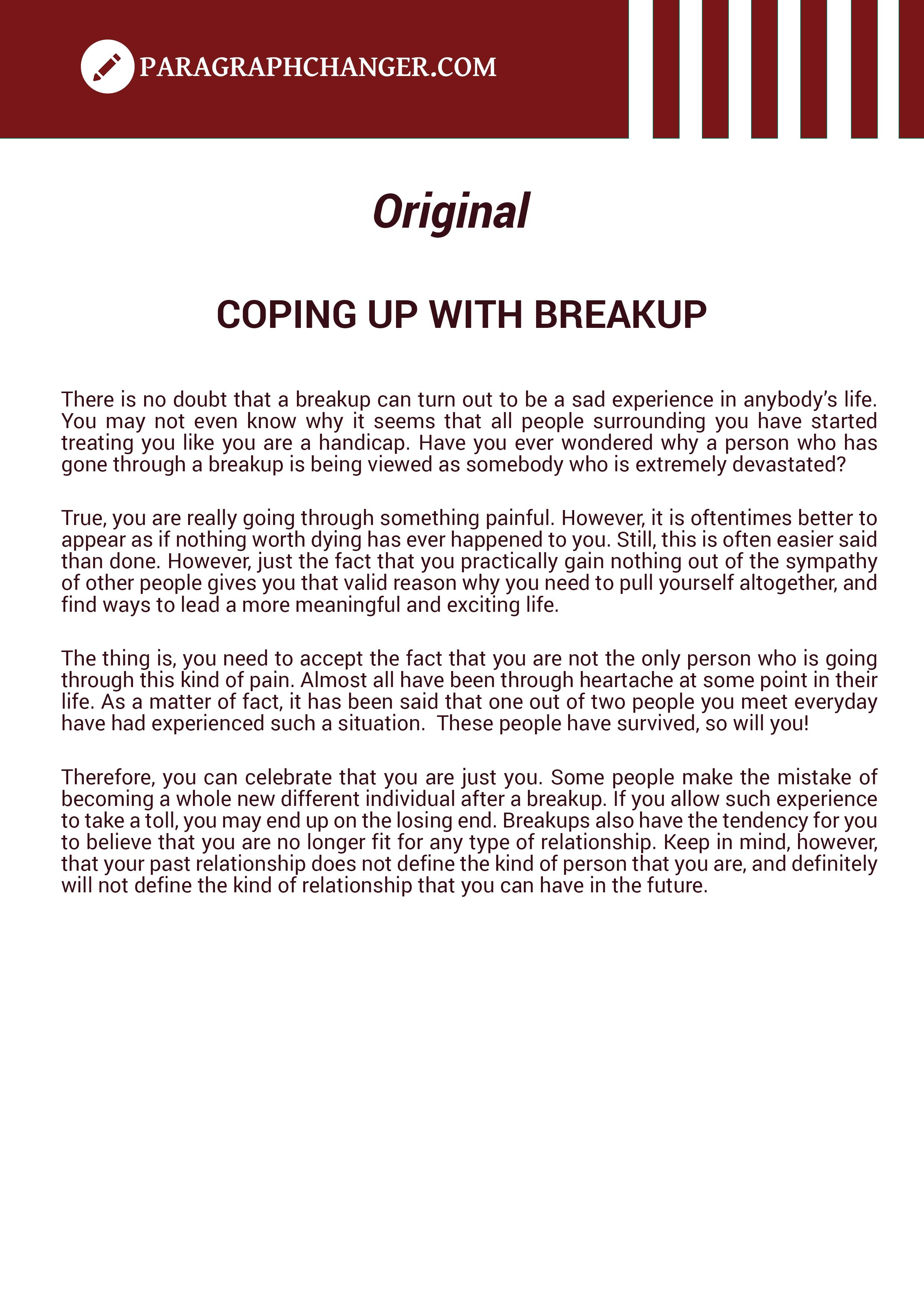 Paraphrasing Sample - Original Text