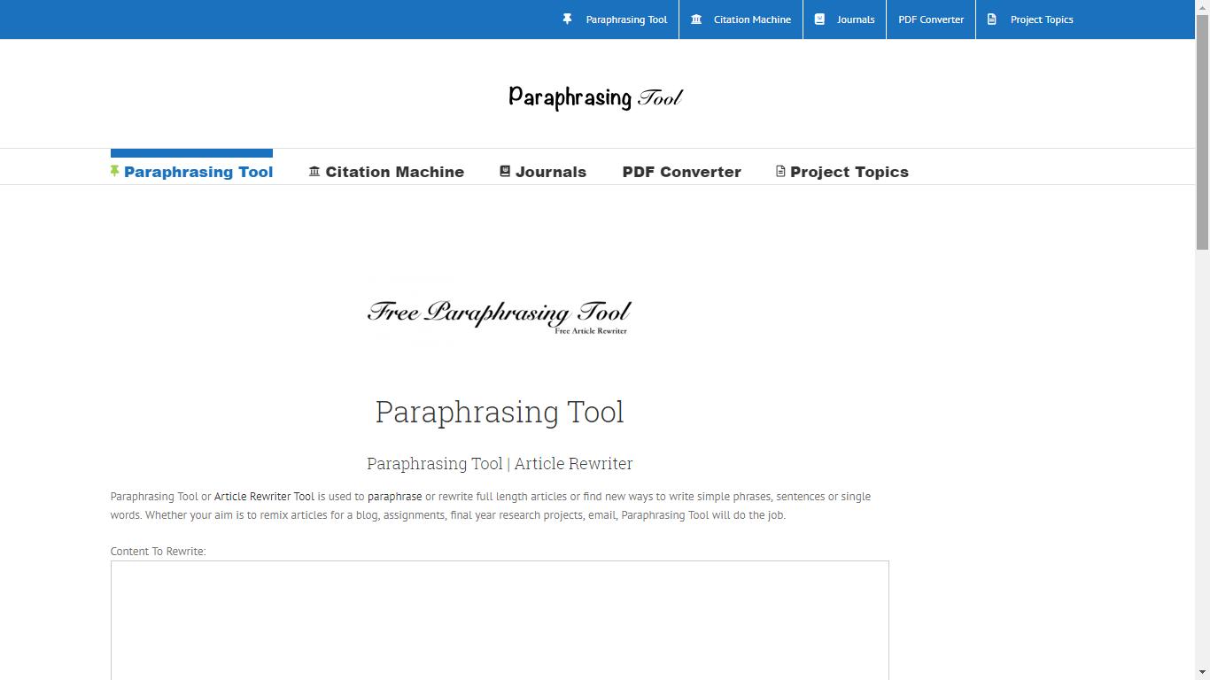 paraphrase.projecttopics.org best paraphrasing program