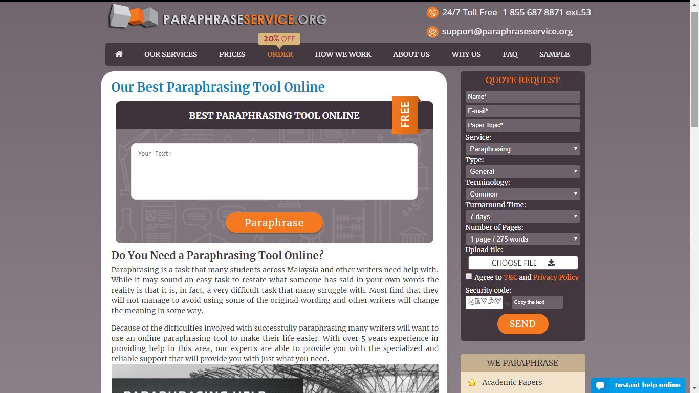 paraphraseservice.org best paraphrasing programs